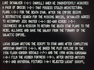 The Star Wars Wikipedia page as rendered by TRSWiki